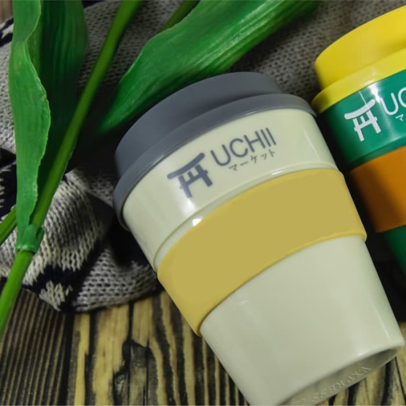 UCHII Travel Coffee Cup Hot Cold Handle Lid Gelas